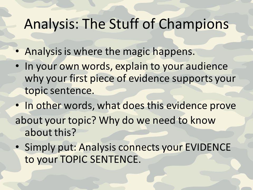 Analysis: The Stuff of Champions