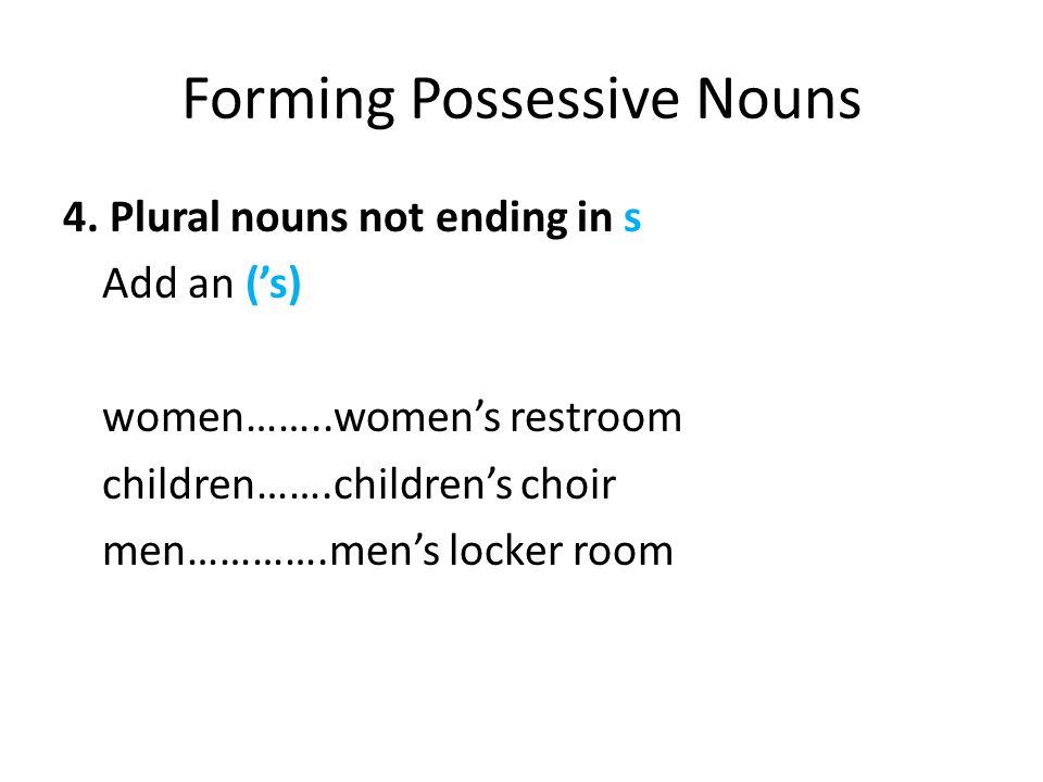 Forming Possessive Nouns