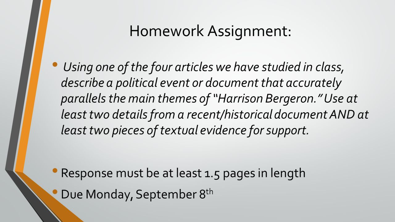 Homework Assignment:
