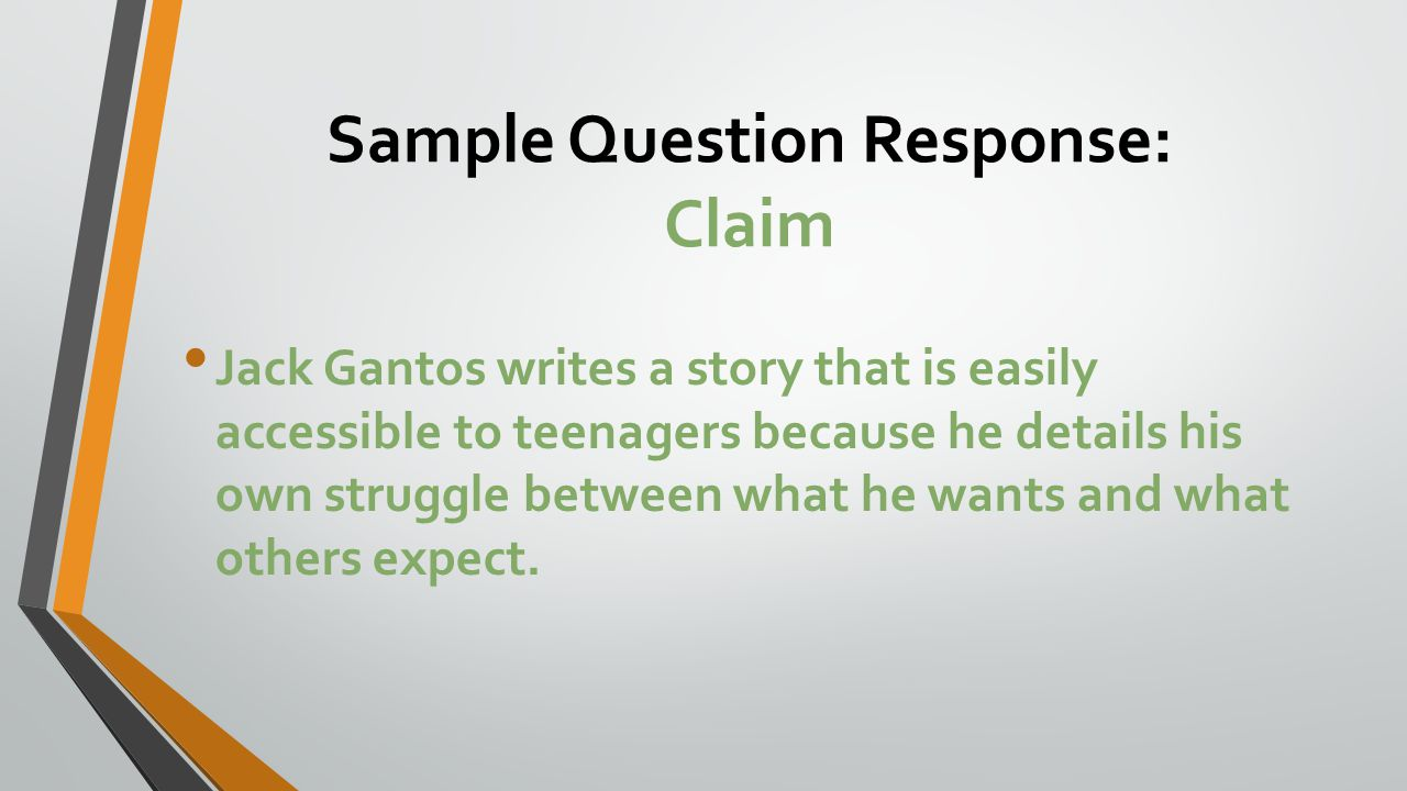 Sample Question Response: Claim