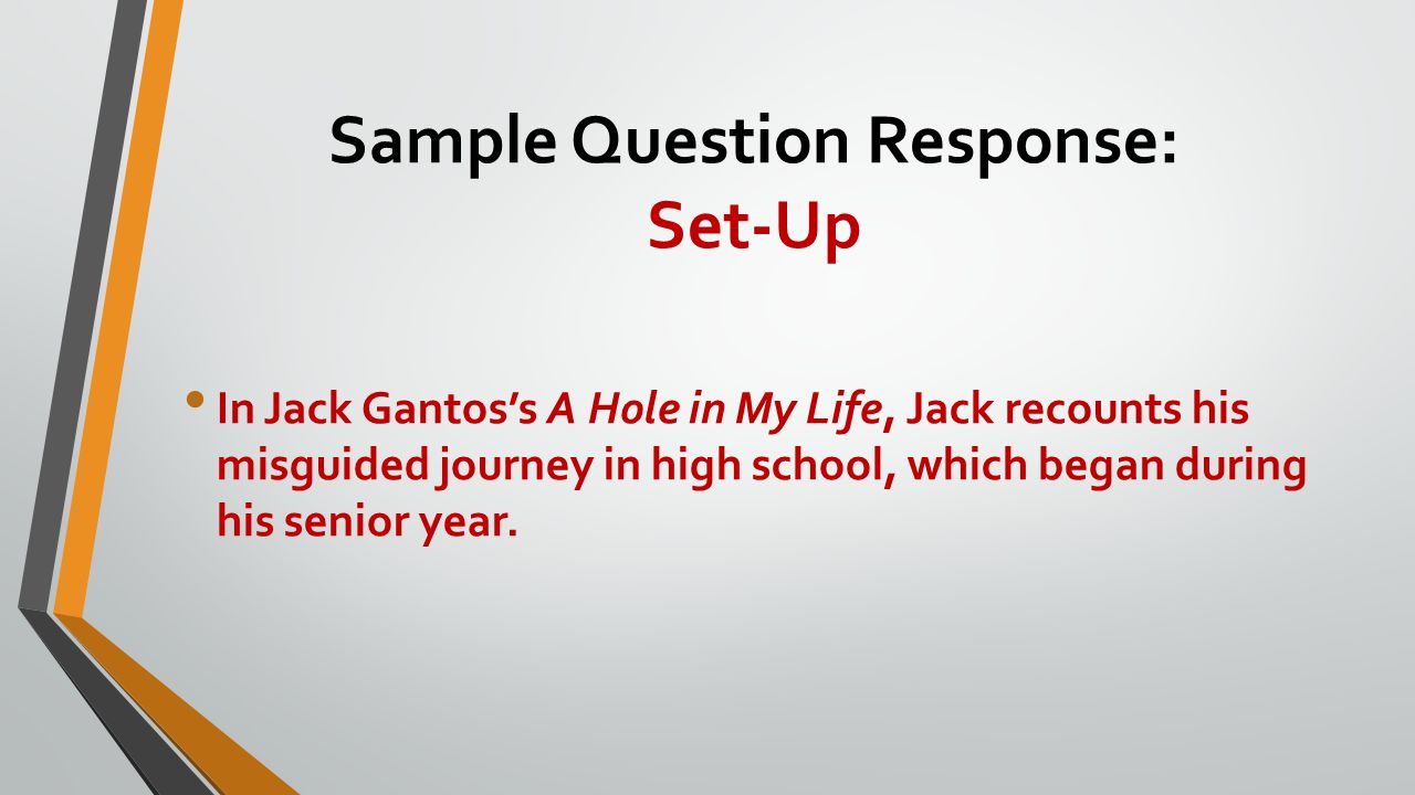 Sample Question Response: Set-Up