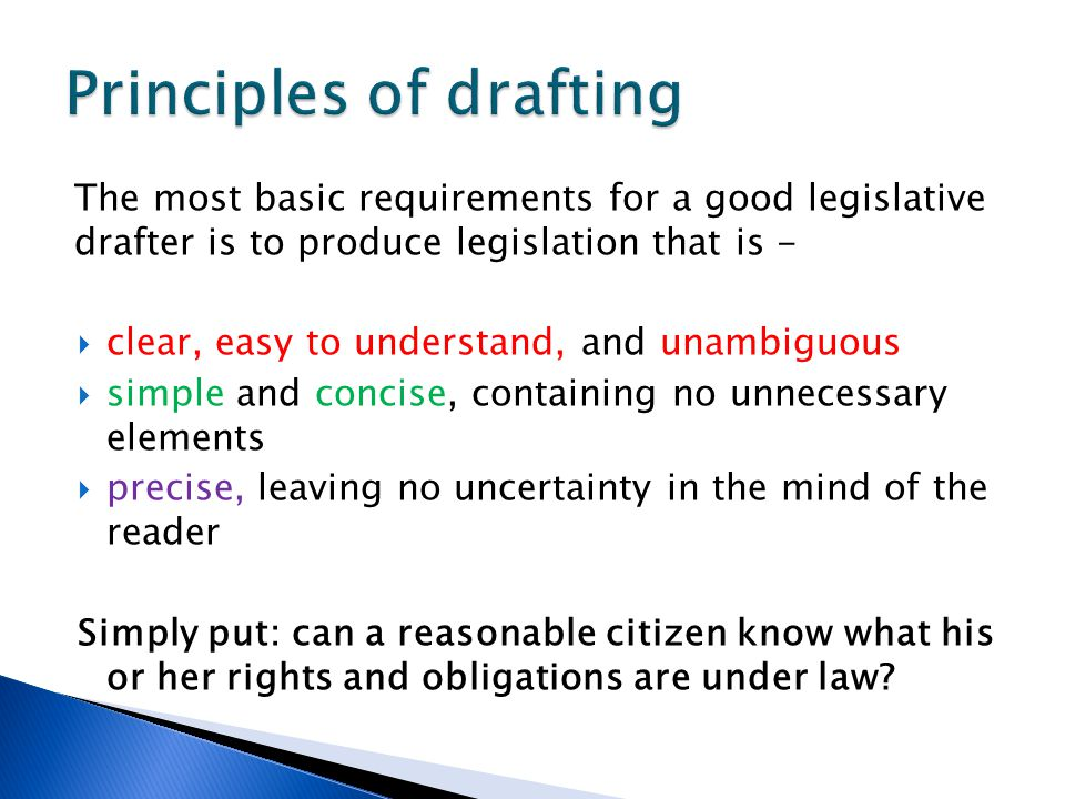 Principles of drafting