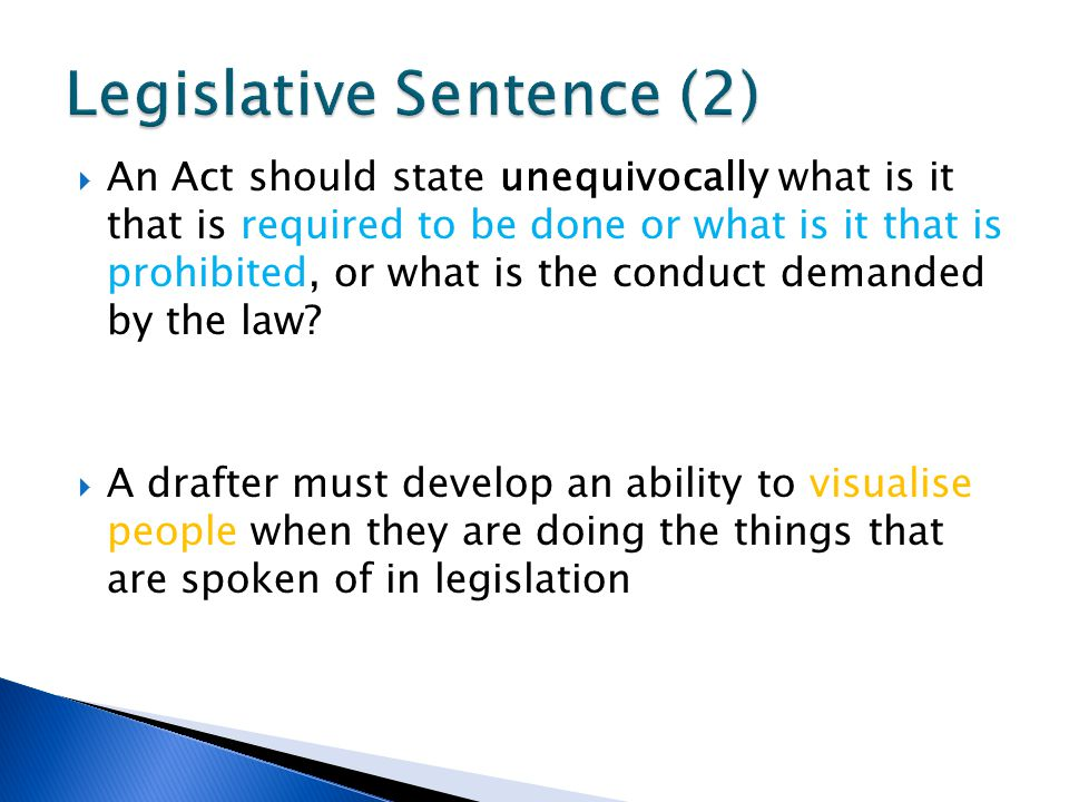 Legislative Sentence (2)