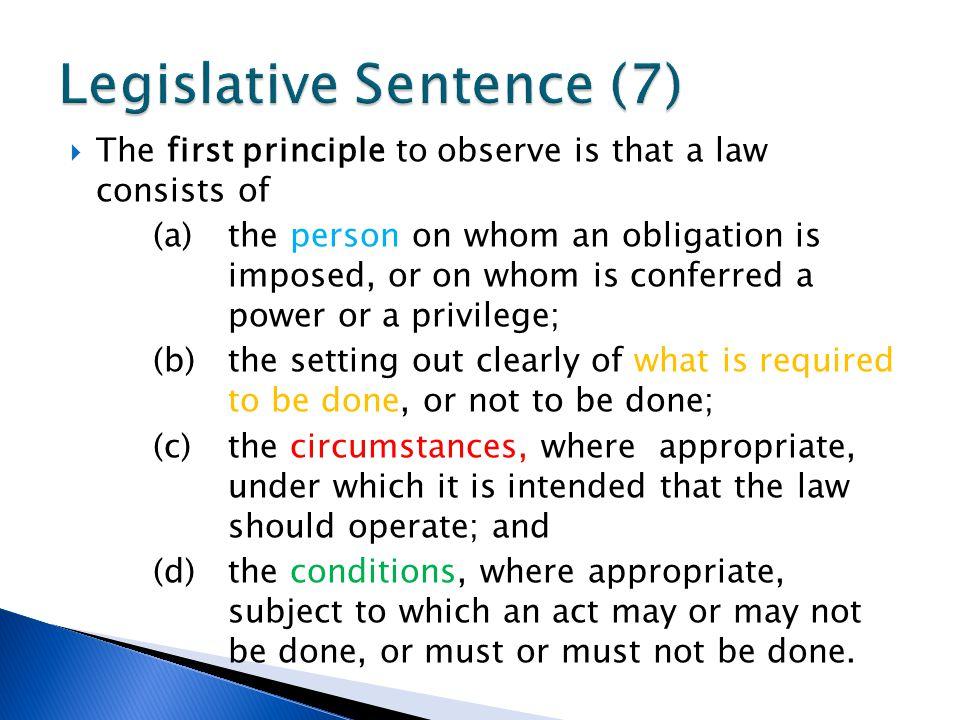 Legislative Sentence (7)