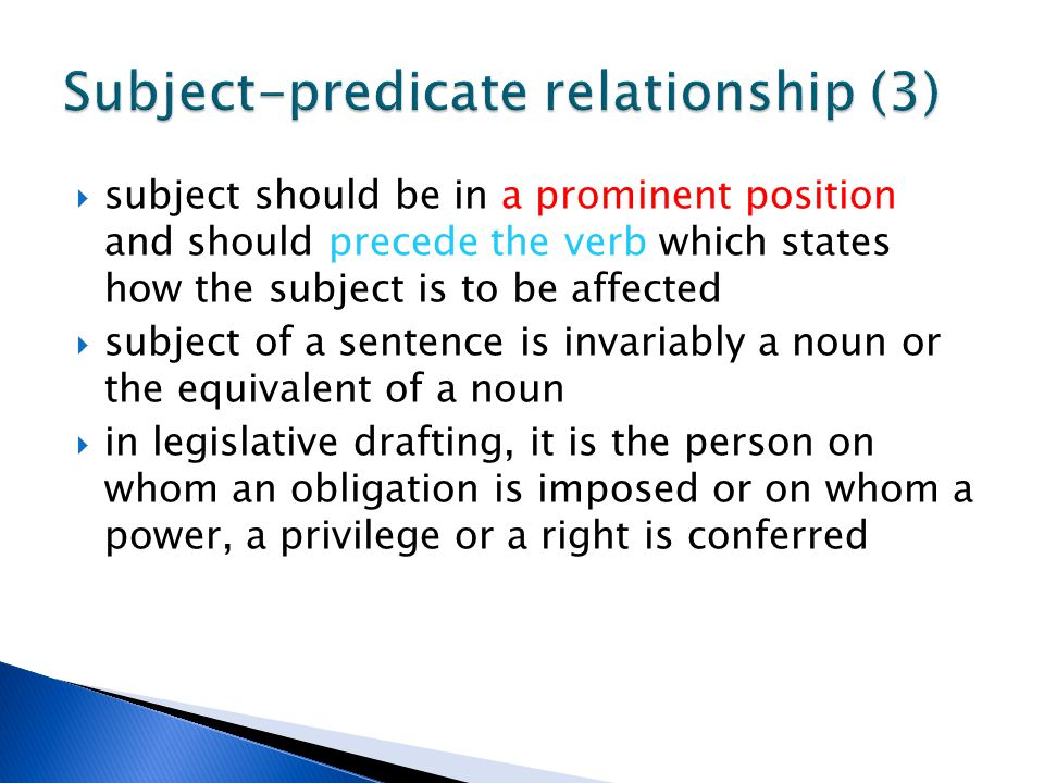 Subject-predicate relationship (3)