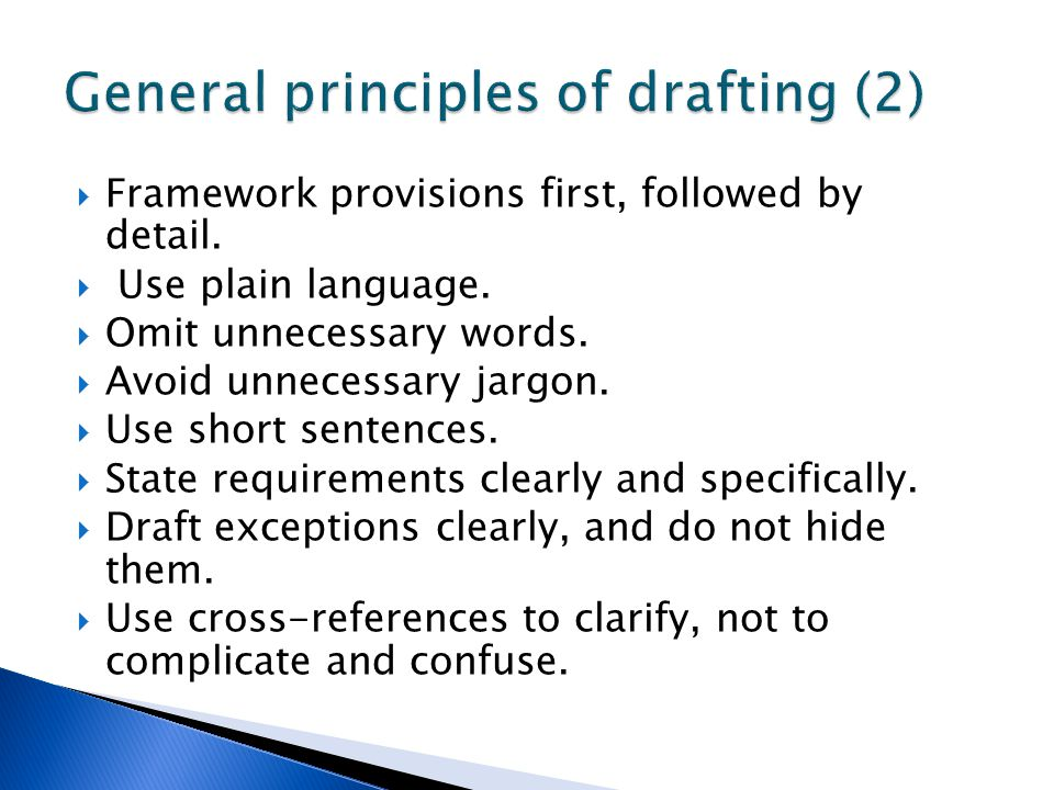 General principles of drafting (2)