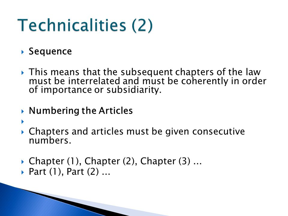 Technicalities (2) Sequence