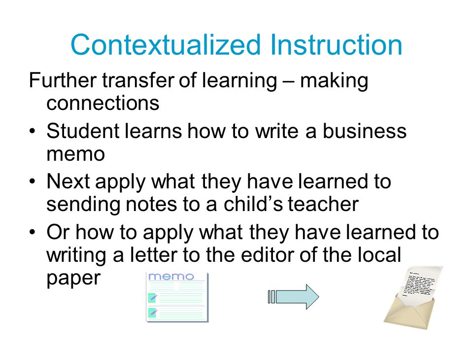 Contextualized Instruction