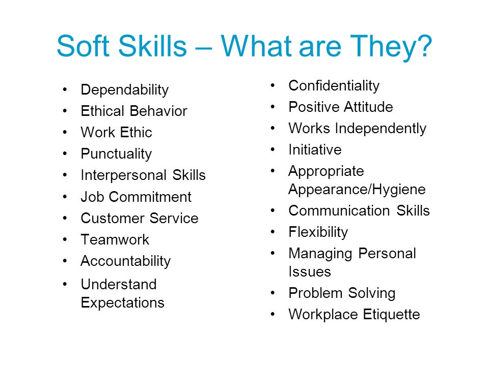 Soft Skills – What are They
