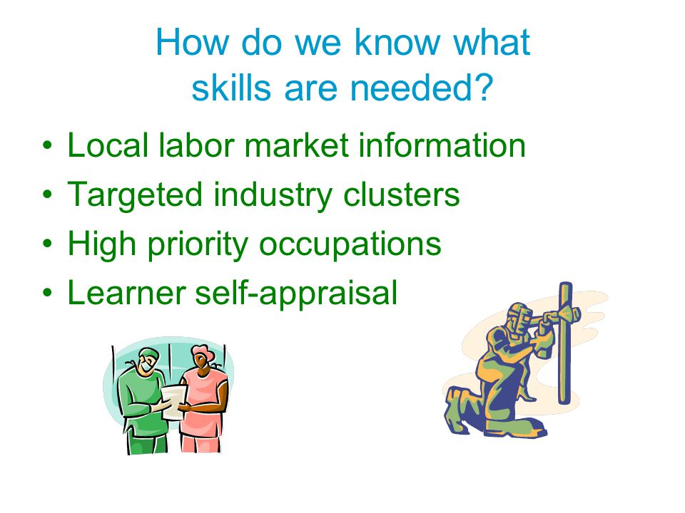 How do we know what skills are needed
