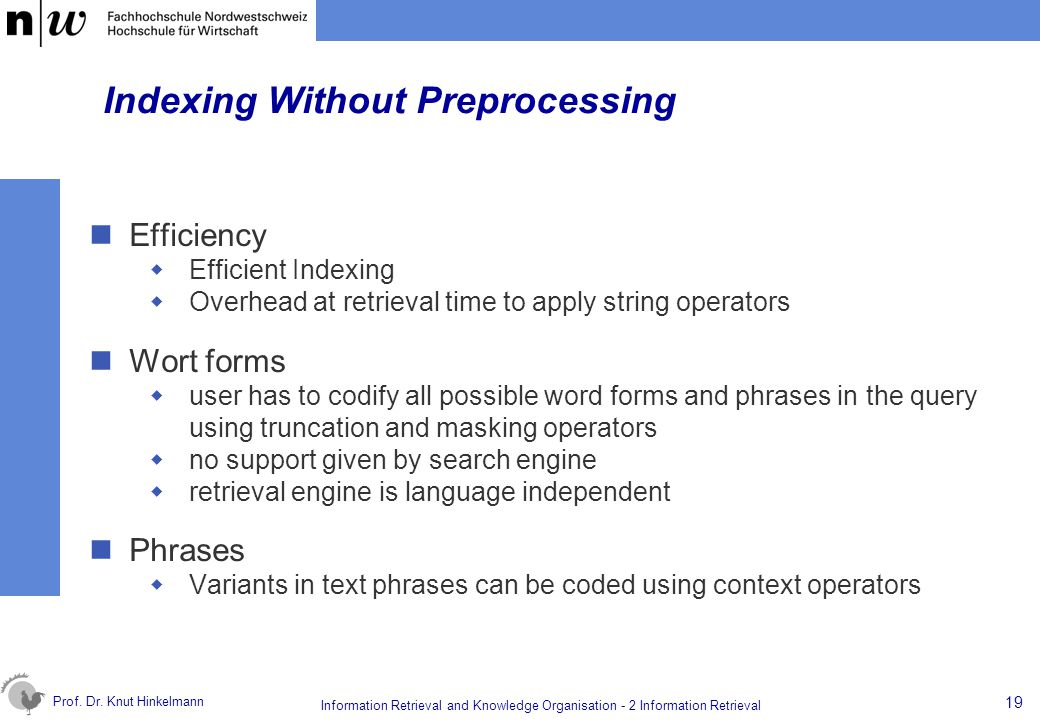 Indexing Without Preprocessing