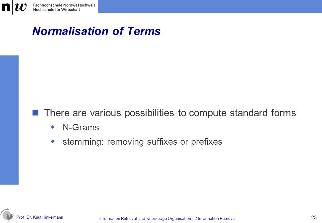 Normalisation of Terms