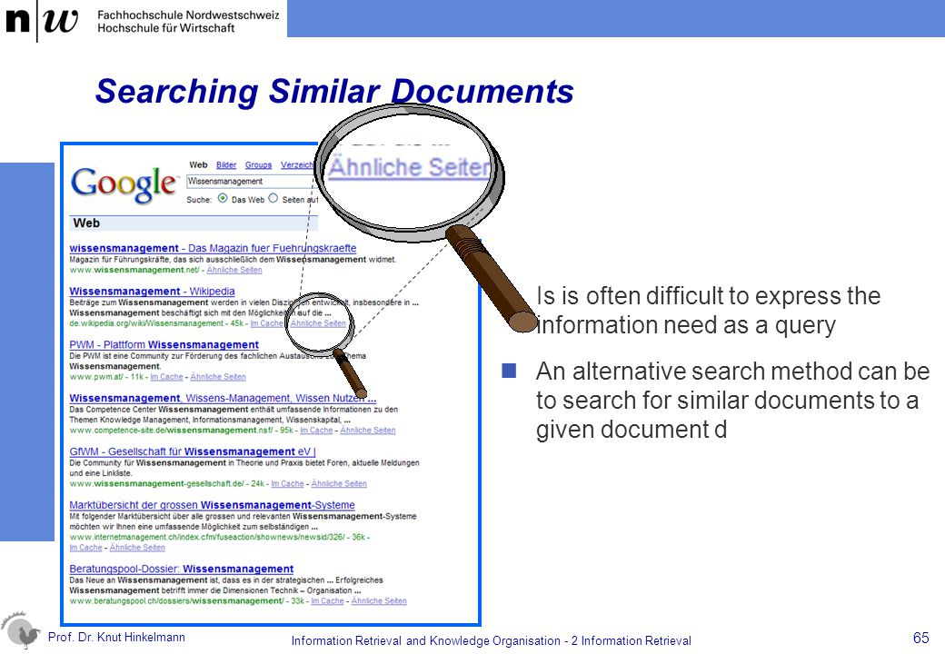 Searching Similar Documents
