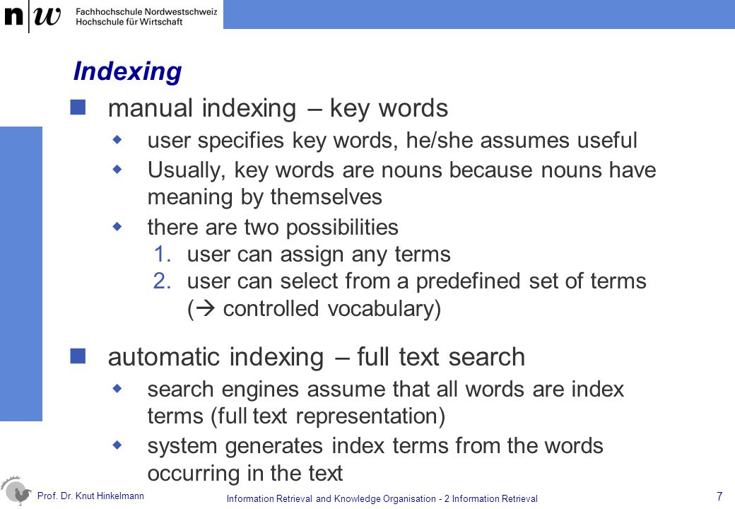 manual indexing – key words