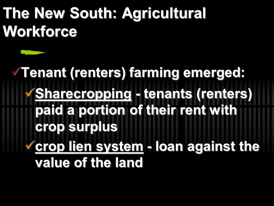 The New South: Agricultural Workforce