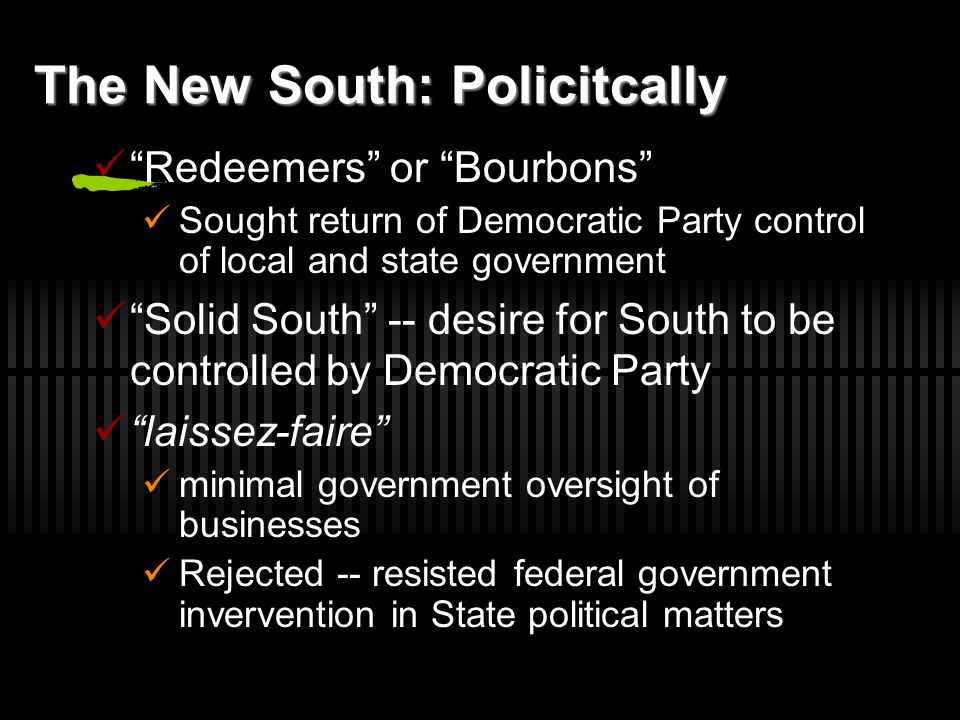 The New South: Policitcally