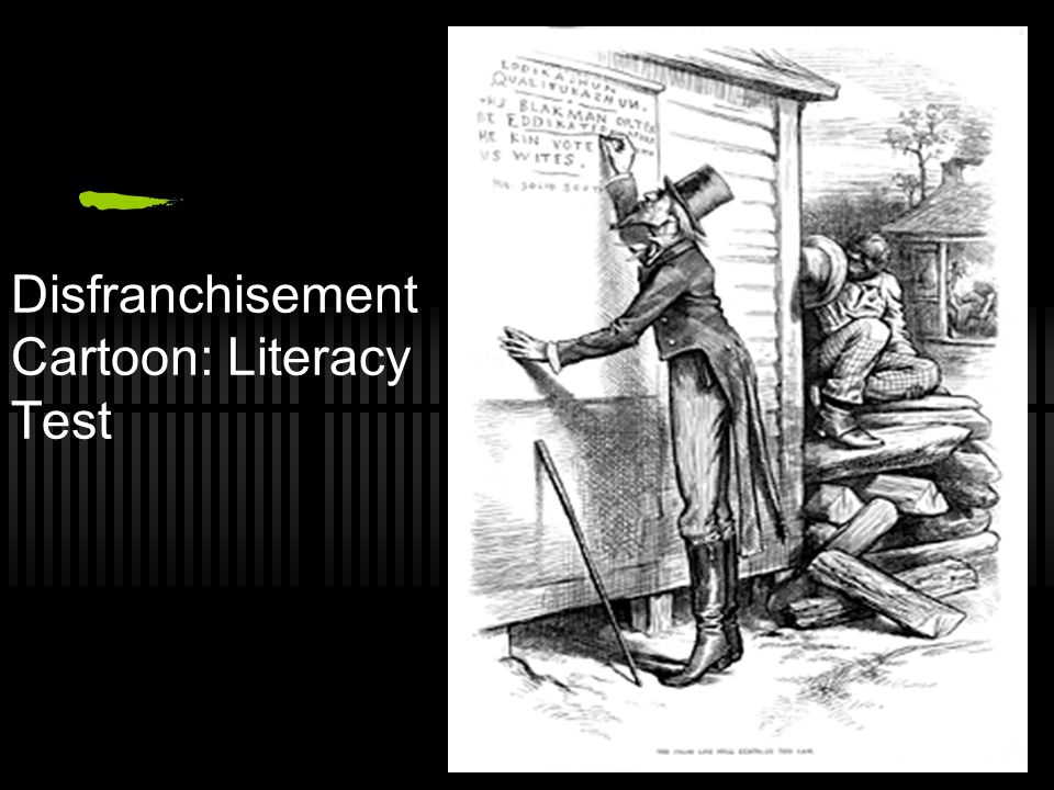 Disfranchisement Cartoon: Literacy Test