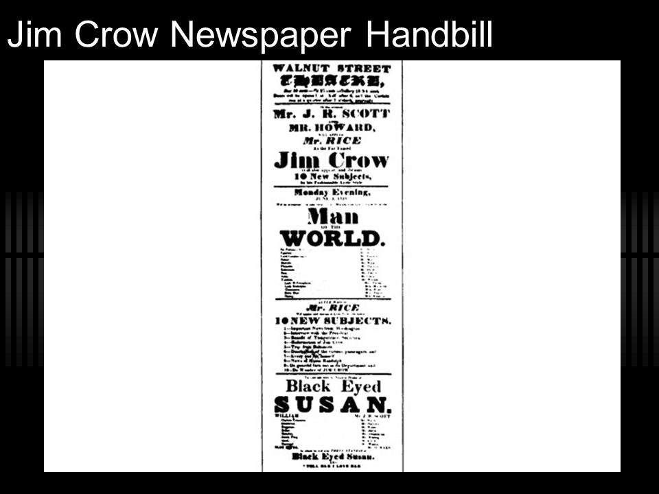 Jim Crow Newspaper Handbill