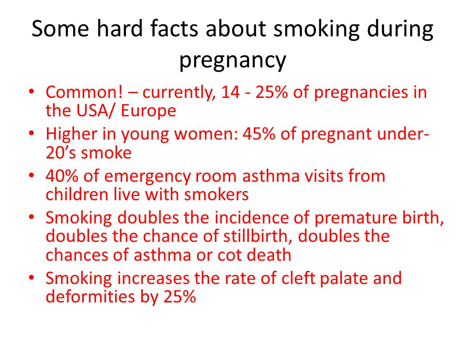 Some hard facts about smoking during pregnancy