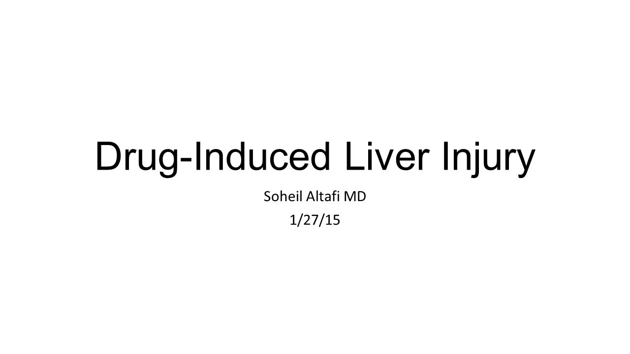 Drug-Induced Liver Injury