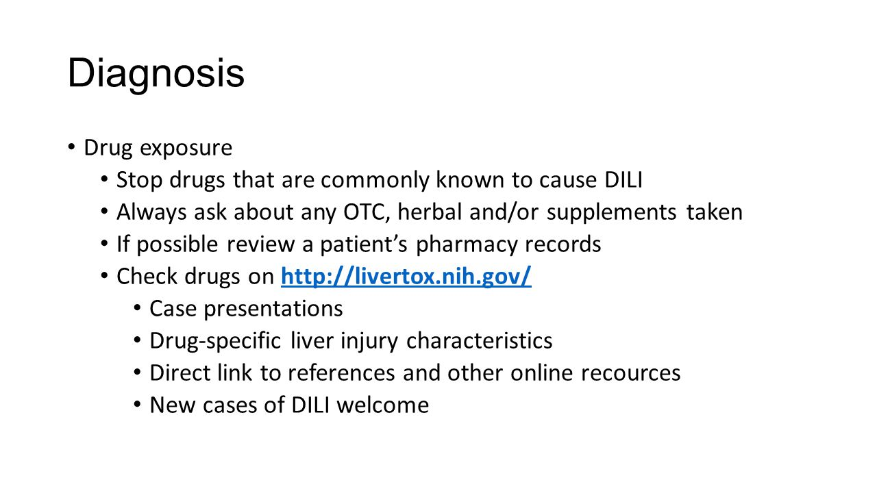 Diagnosis Drug exposure