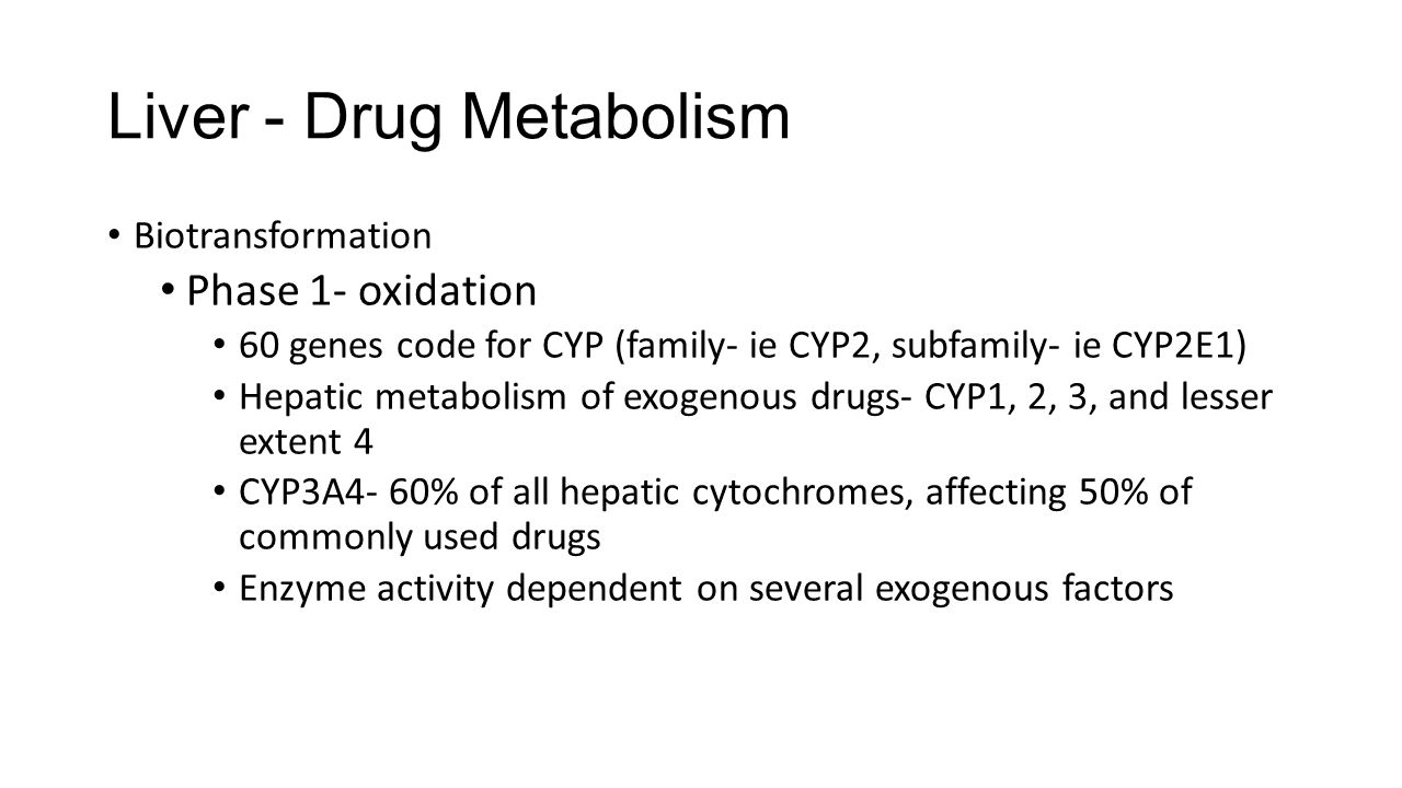 Liver - Drug Metabolism