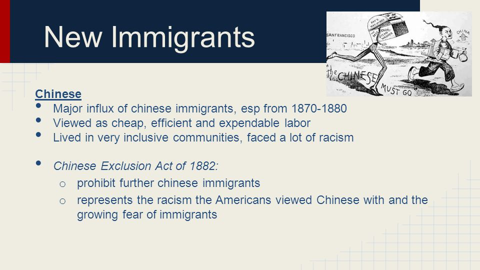 New Immigrants Chinese