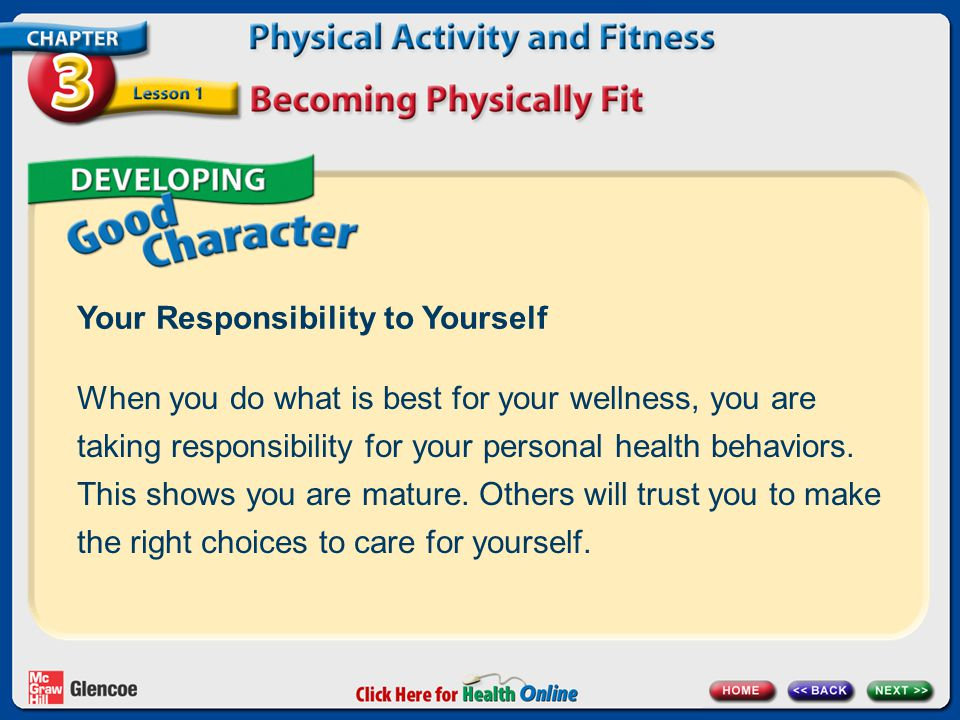 Your Responsibility to Yourself