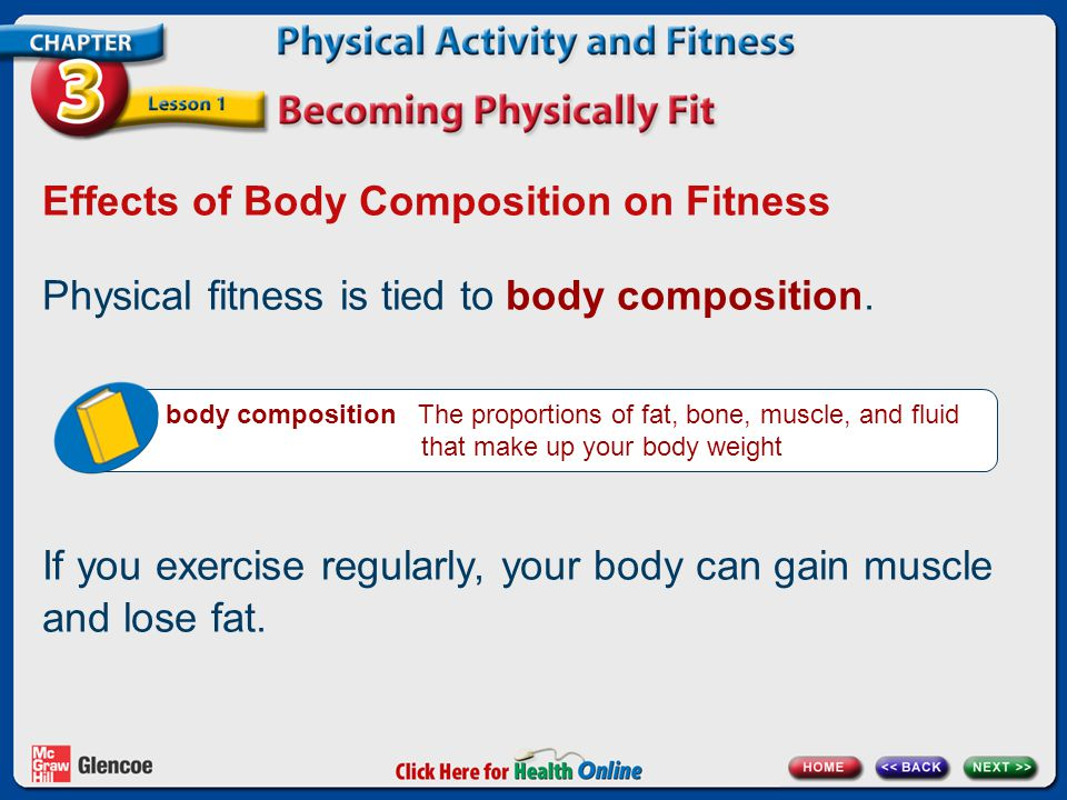 Effects of Body Composition on Fitness