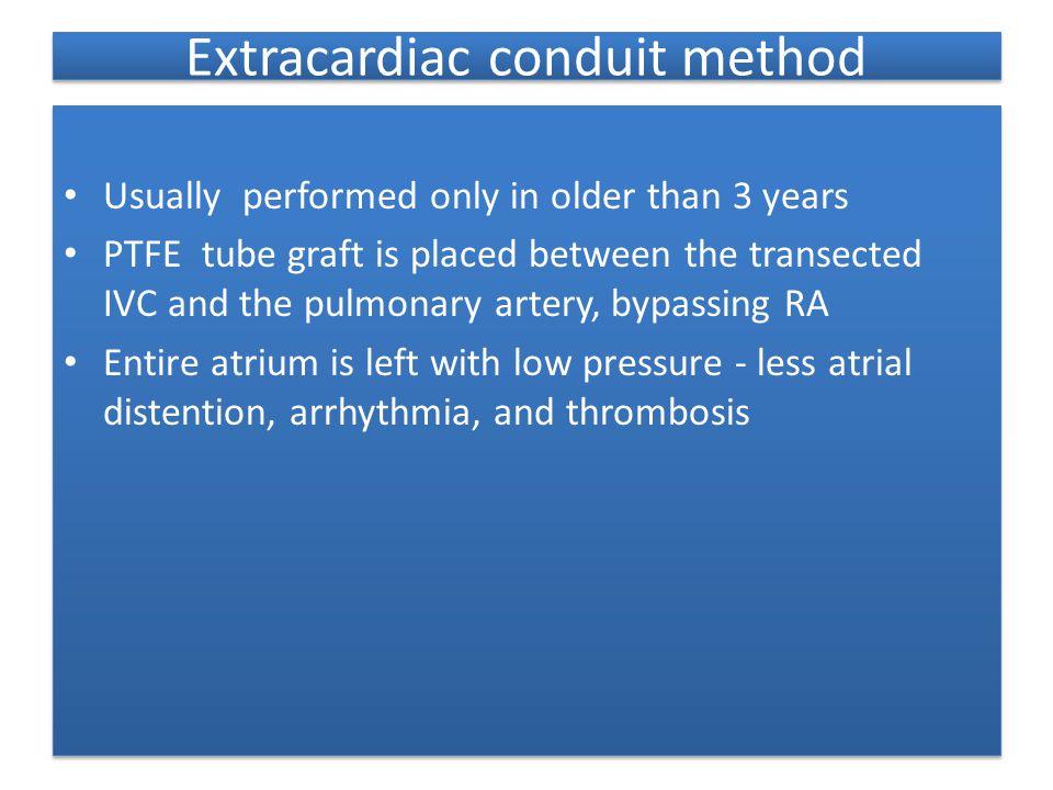Extracardiac conduit method