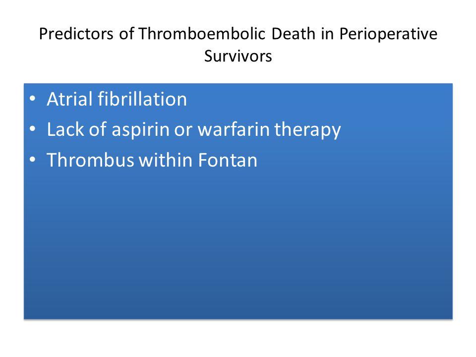 Predictors of Thromboembolic Death in Perioperative Survivors
