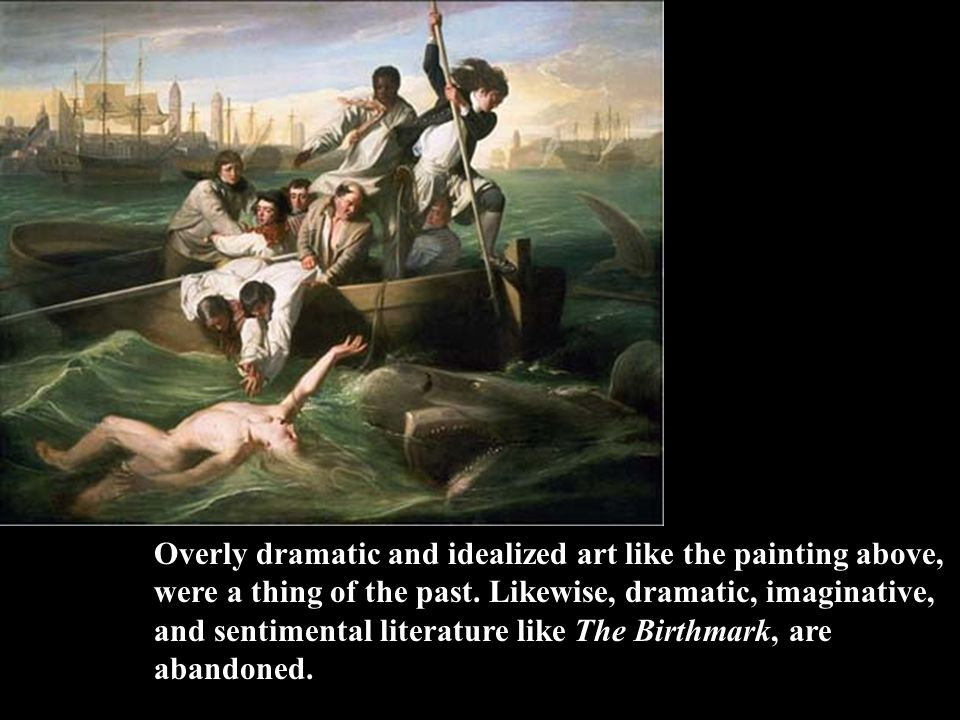 Overly dramatic and idealized art like the painting above, were a thing of the past.