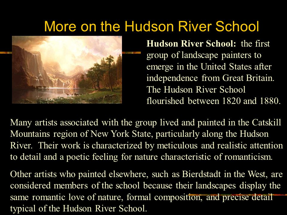 More on the Hudson River School