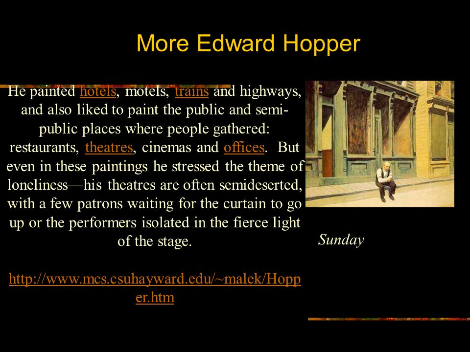 More Edward Hopper