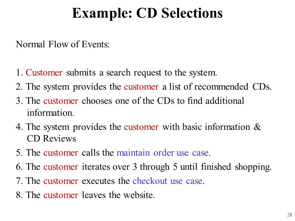 Example: CD Selections
