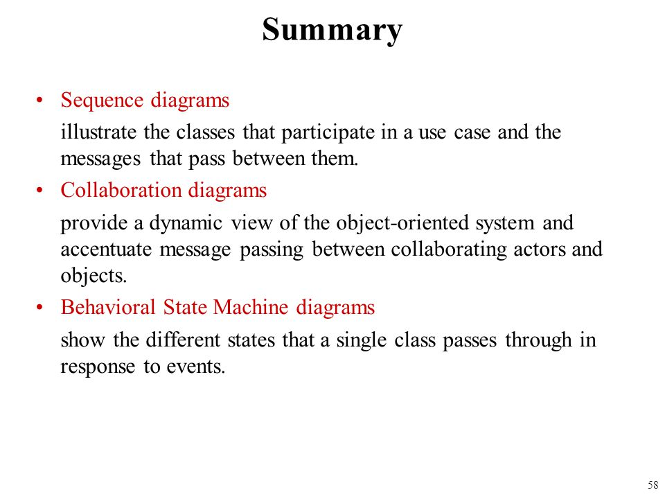 Summary Sequence diagrams