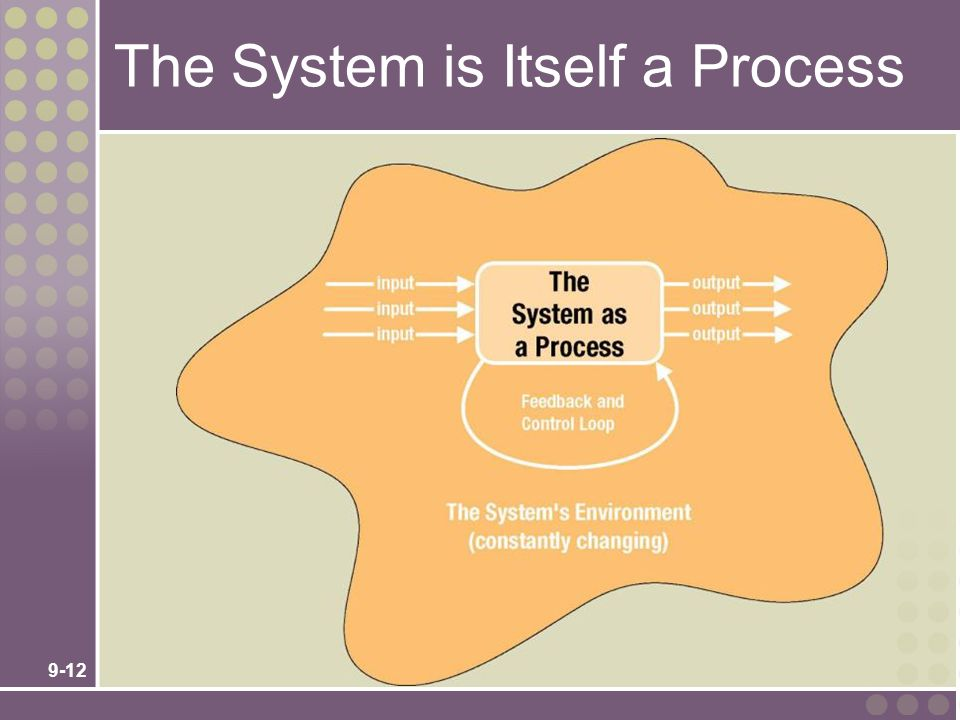 The System is Itself a Process