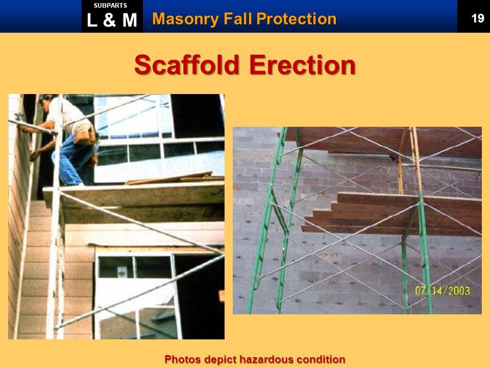Scaffold Erection L & M Masonry Fall Protection 20 19