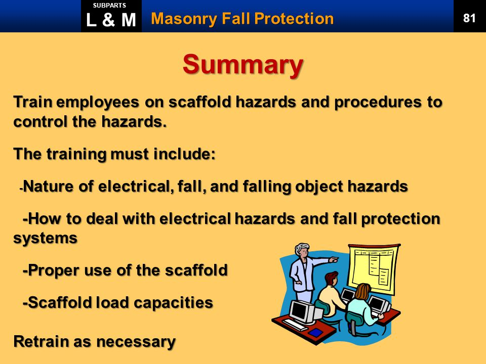Summary L & M Masonry Fall Protection