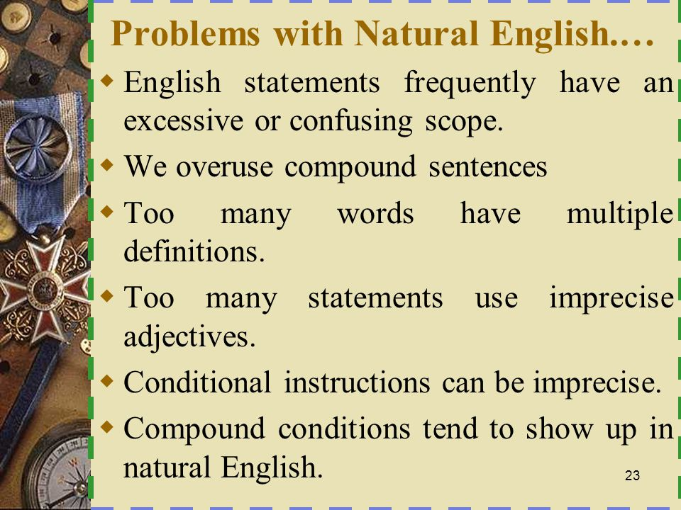 Problems with Natural English.…