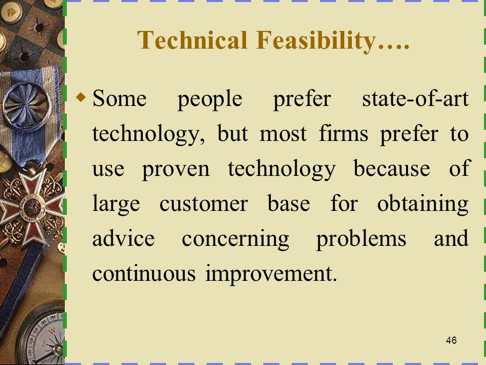 Technical Feasibility….