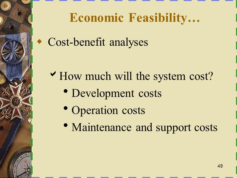 Economic Feasibility…