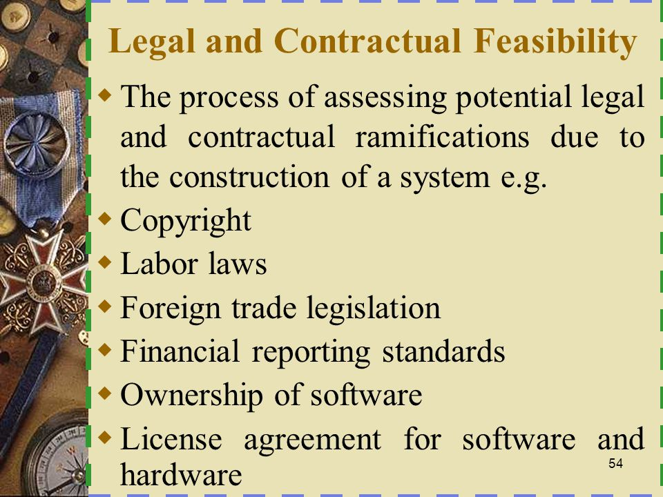 Legal and Contractual Feasibility