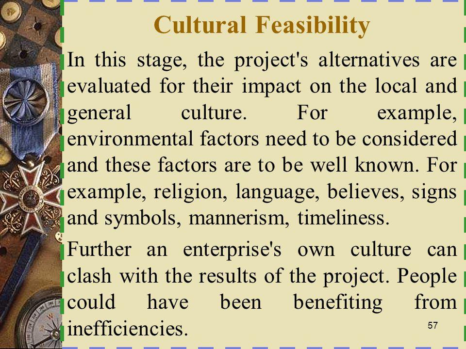 Cultural Feasibility