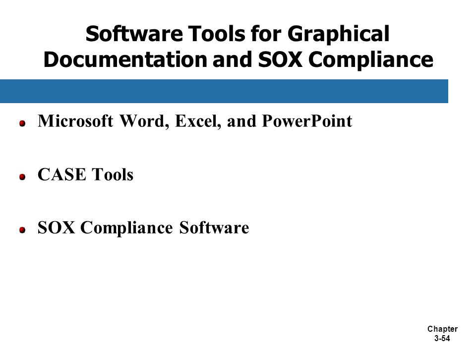 Software Tools for Graphical Documentation and SOX Compliance
