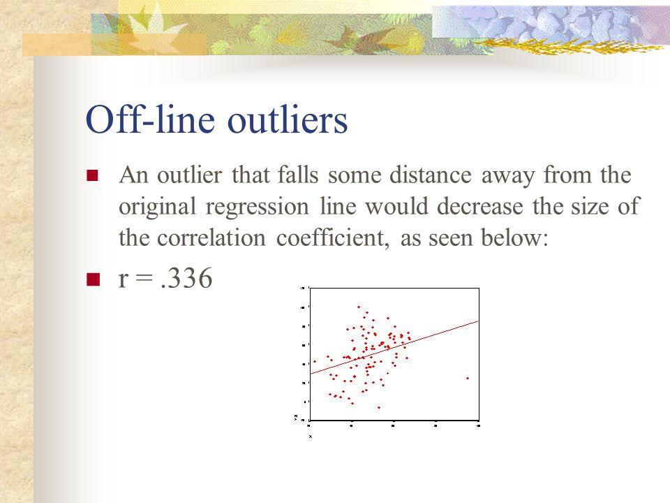 Off-line outliers