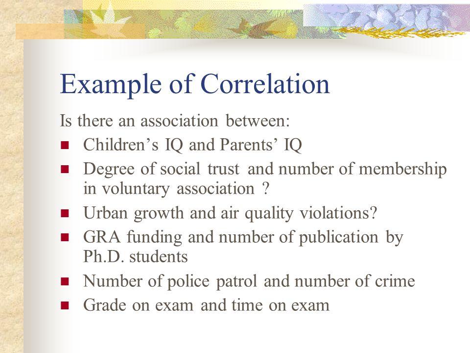 Example of Correlation
