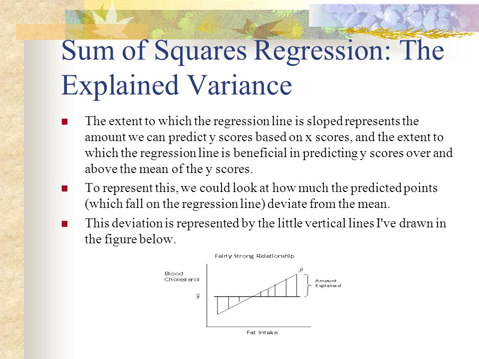 Sum of Squares Regression: The Explained Variance