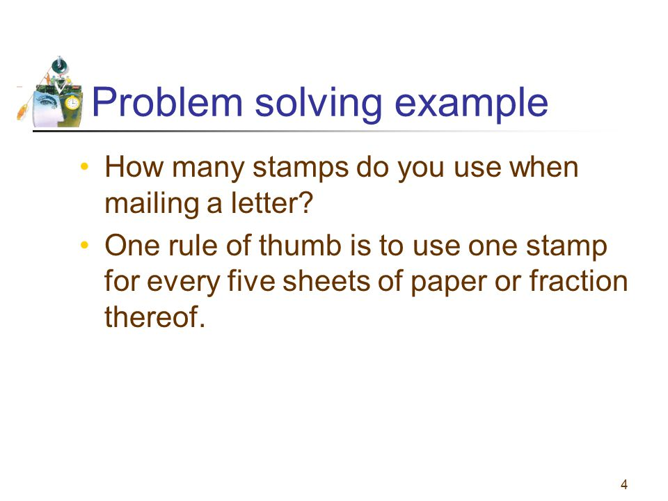 Problem solving example
