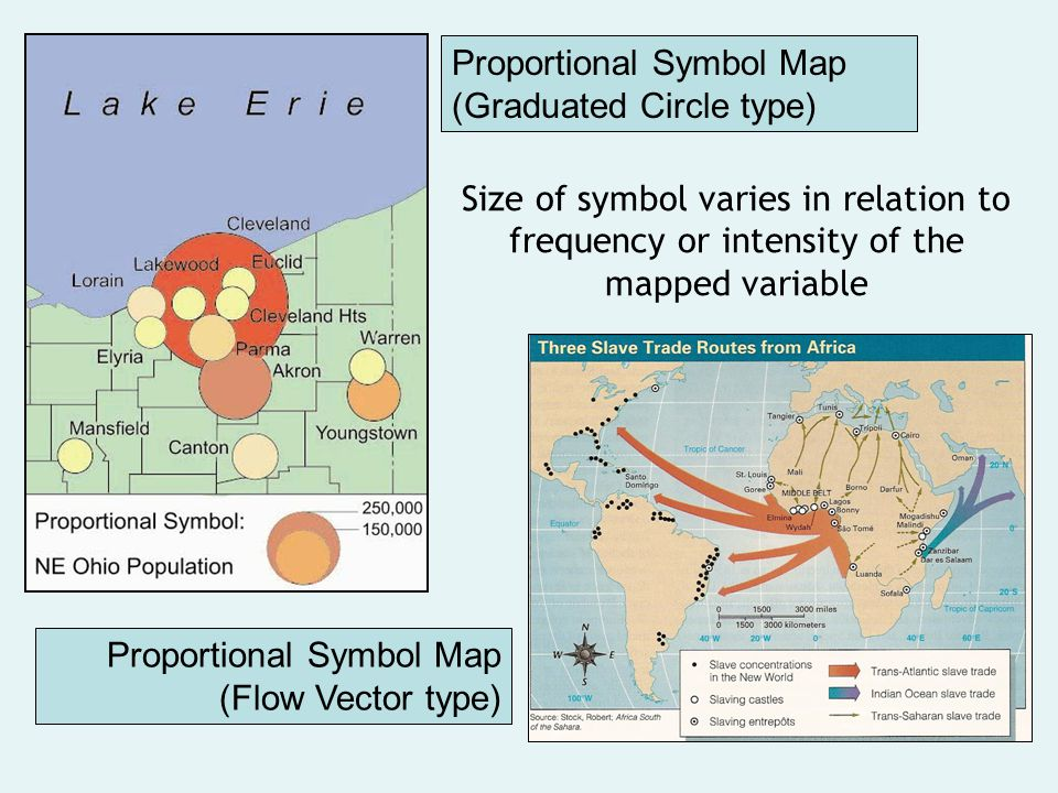 Proportional Symbol Map (Graduated Circle type)